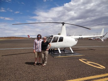 Us with our little helicopter.