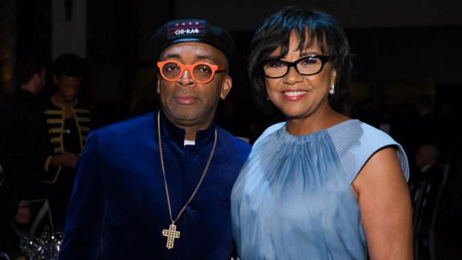 Oscar nominee, Spike Lee and Academy President, Cheryl Boone Isaacs at the 7th Annual Governors Awards