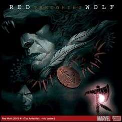 Red Wolf #1 variant cover by Mike Del Mundo