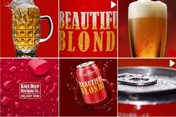 Beautiful Blonde mood board for video production