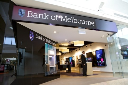 14  Branch of the Future  Designs bank of melbourne entrance  bank of melbourne signage   bank of melbourne community wall  bank of melbourne lobby2   bank of melbourne workstations