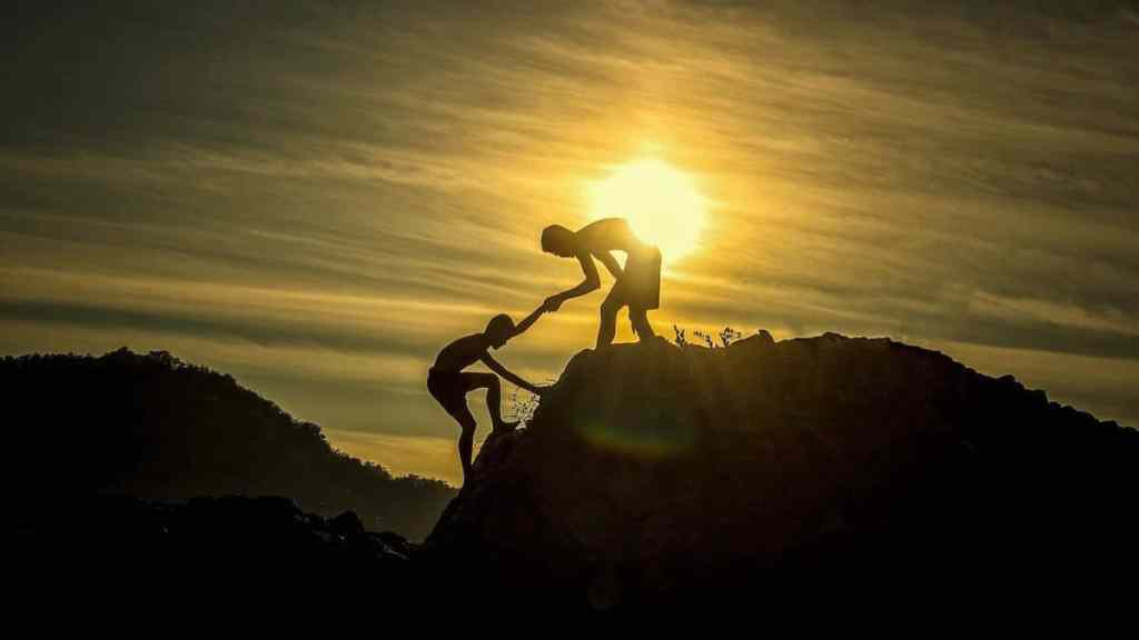 millennials helping each other