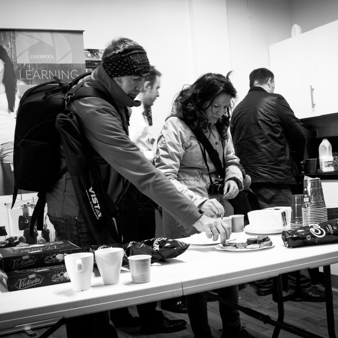 Tea and biscuits | Liverpool Photo Walk 2015