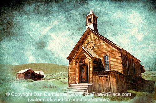 A church in Bodie Ghost Town in California.