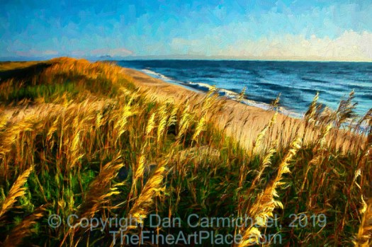 Outer Banks of North Carolina.  A painting created from a photo.