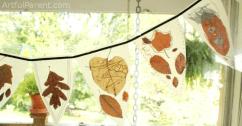 Autumn Leaf Bunting by Artful Parent
