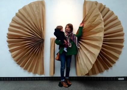 Brown paper wings
