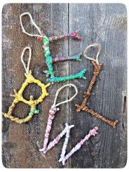 www.3-squeezes.blogspot.co.uk DIY Monogram Tree Decoration