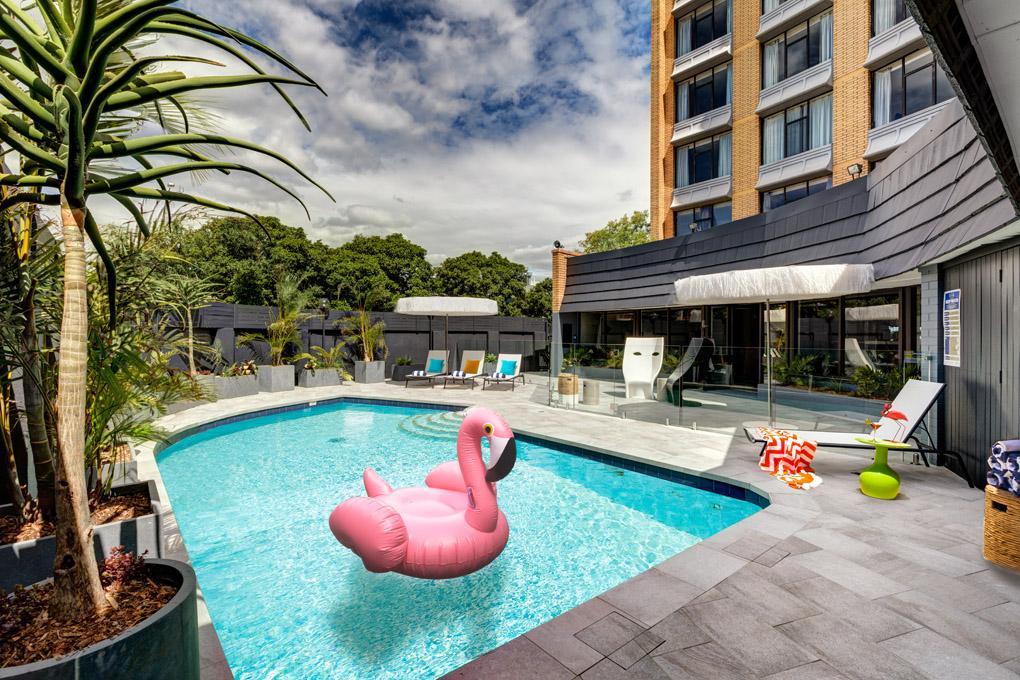 Atura Albury Pool courtyard