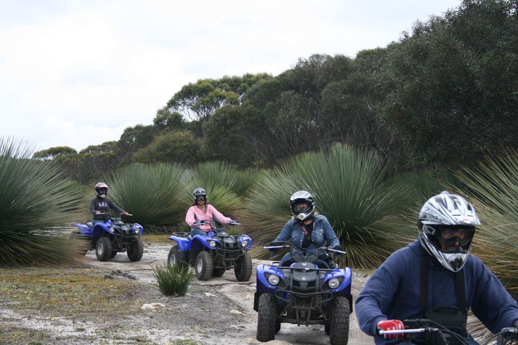Doing the quad bike tour with KI Outdoor Action