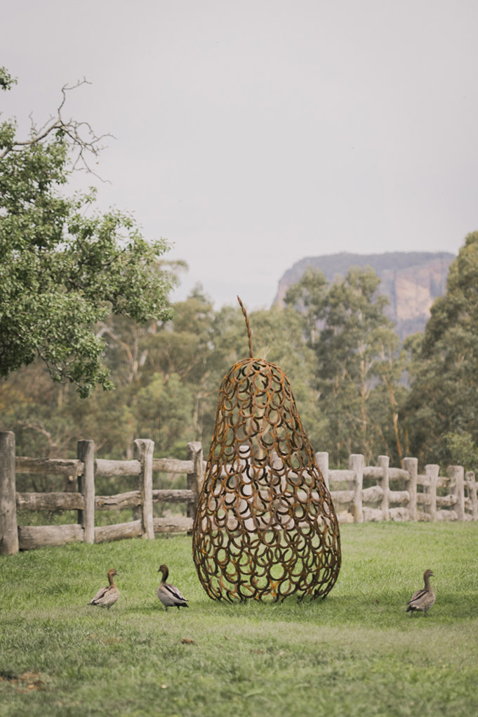 Wolgan Valley, Blue Mountains, One&Only Wolgan Valley, scultpures
