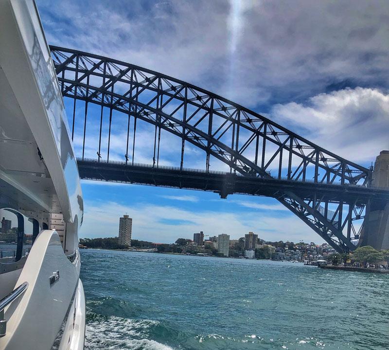 Infinity Pacific, Sydney Harbour, Pacific Group, superyacht, Peter Kuruvita