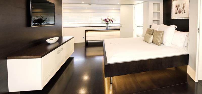 Infinity Pacific, super yacht, luxury cruiser. Sydney Harbour
