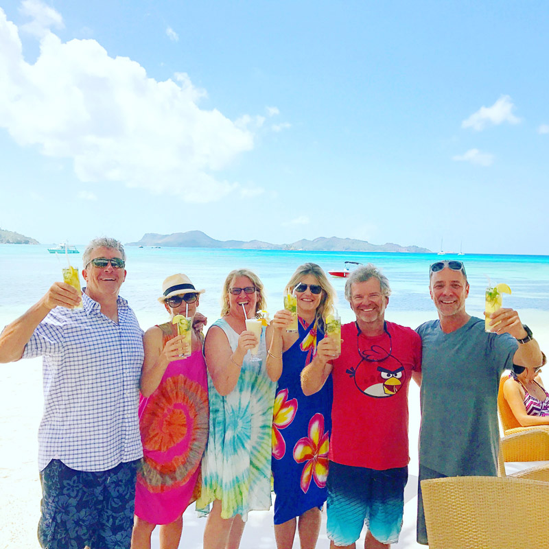 drinks on the beach, the Seychelles, cocktails, Baie Ternay