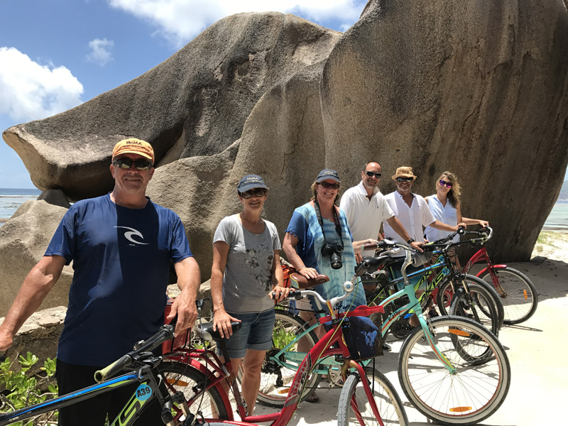 bikes on La Digue, Seychelles, Source D'Argent, Sunsail, yacht charter