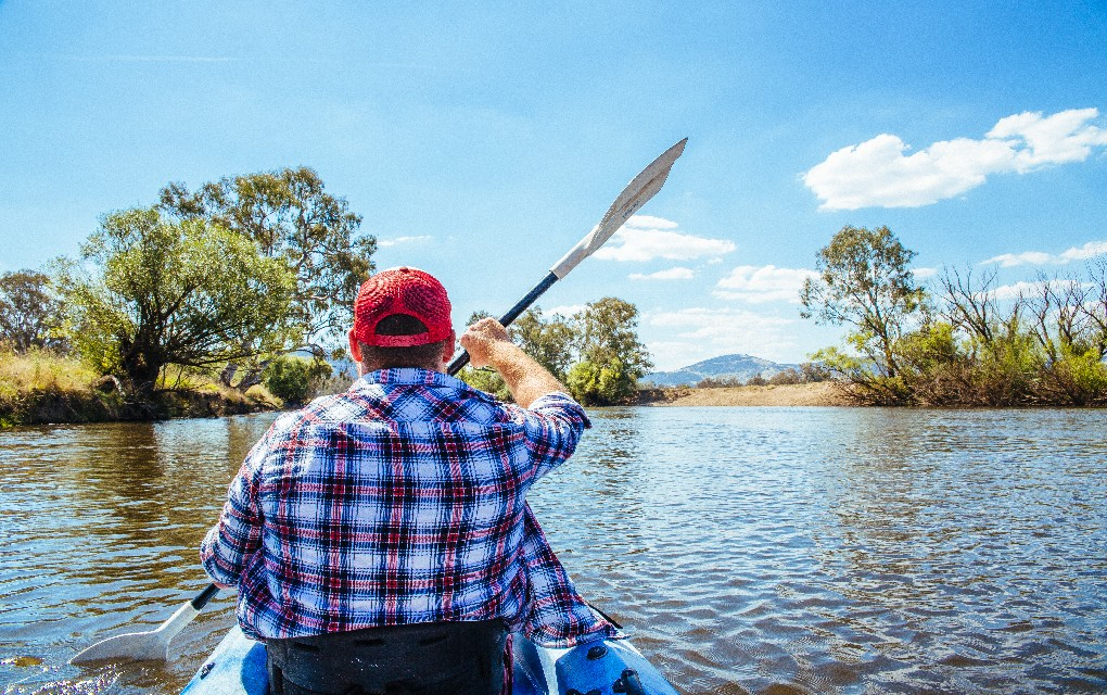 Corryong, Murray River, kayaking, Victoria, Tourism Victoria