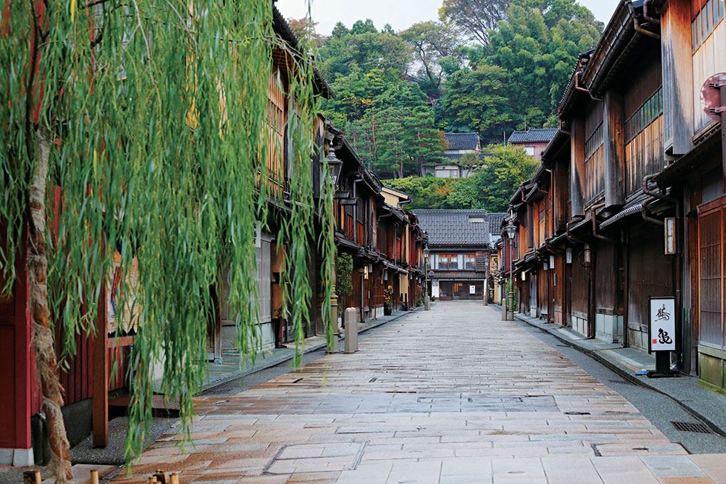 Kanazawa, Ishikawa, Japan, Higashi-Chaya, hot spot in Japan