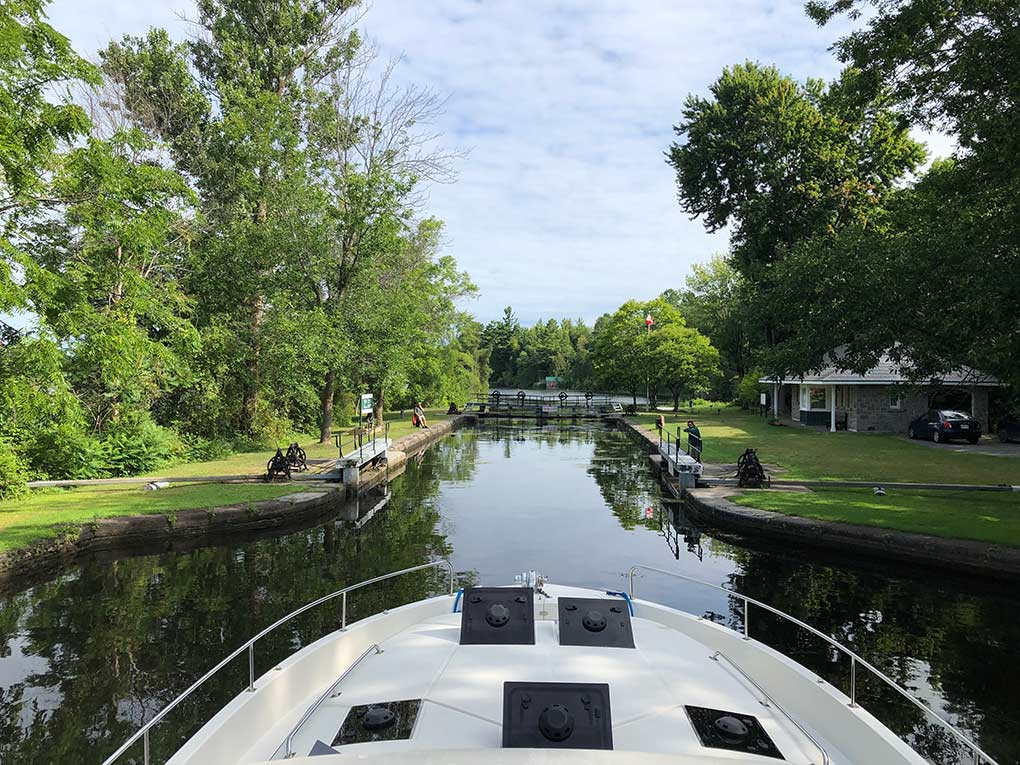 Rideau Canal, Ottawa, Ontario, Canada, houseboating