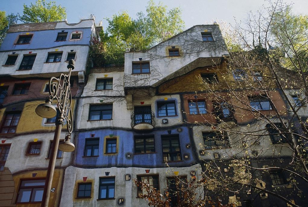 Hundertwasser House, Vienna, Austria, Art in Vienna, architecture