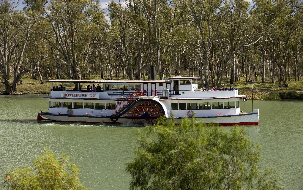 Mildura, Rothbury, Murray River, paddle steamer