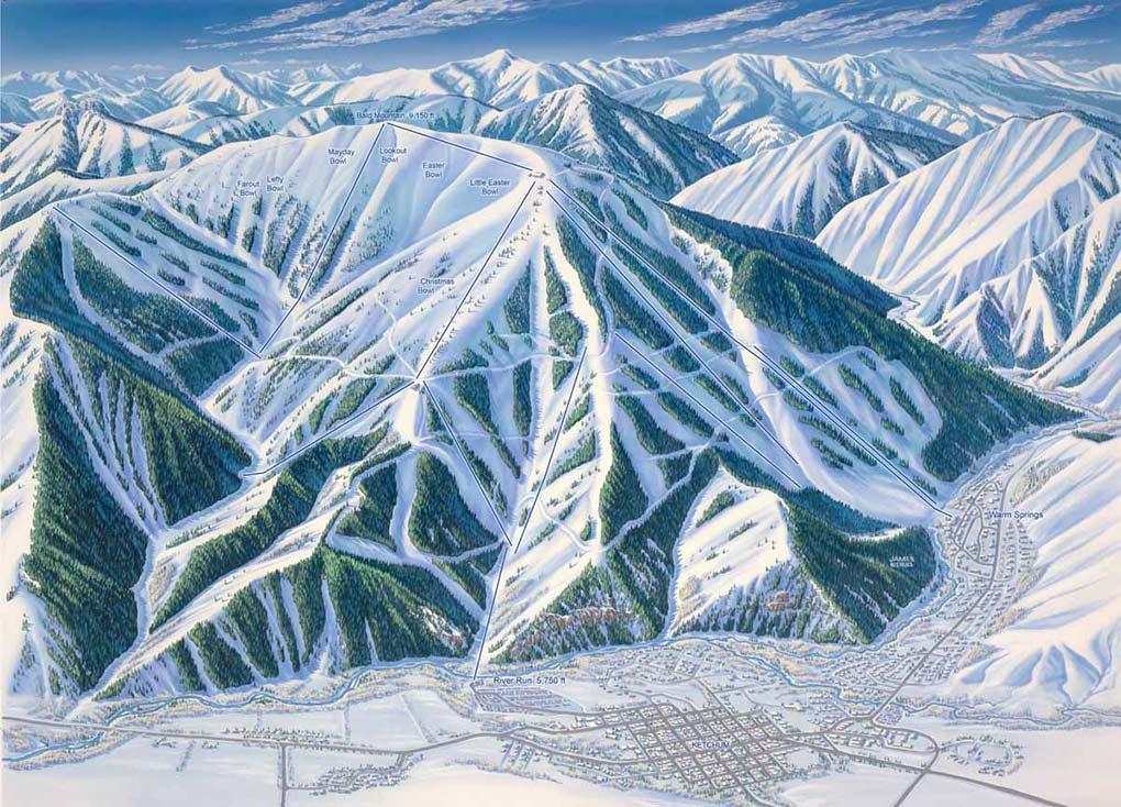 Sun Valley, trail map, James Niehues