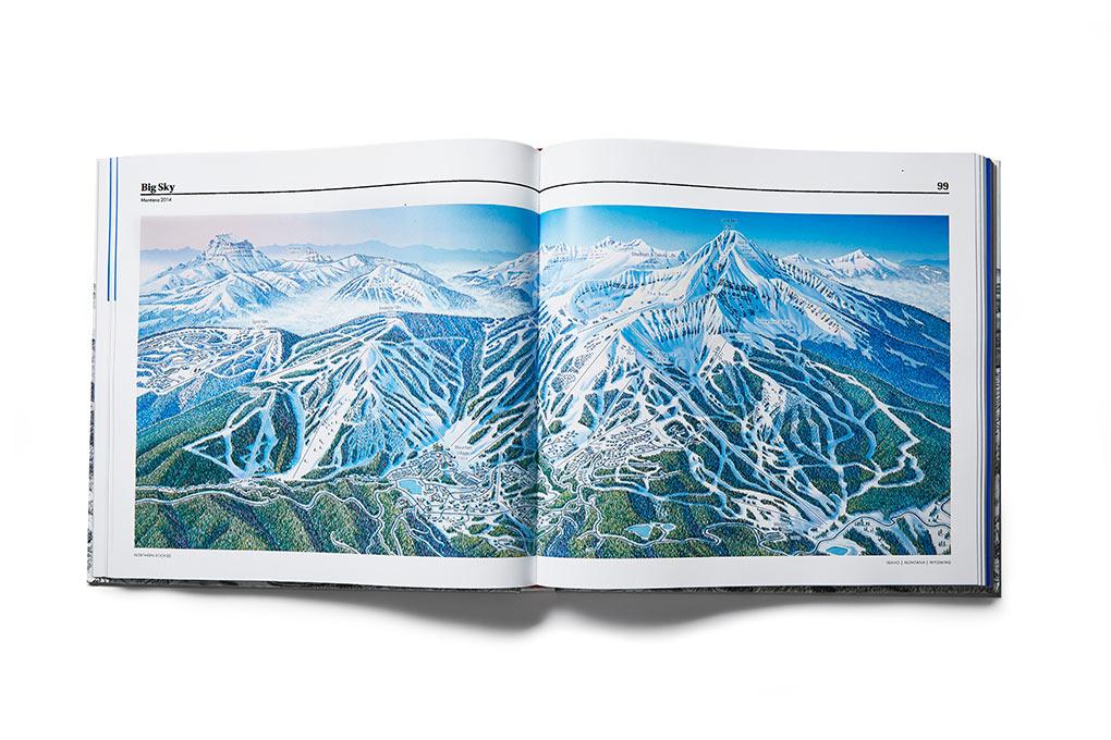 ski trail maps, James Niehues, ski resorts, art, artist, hand painted