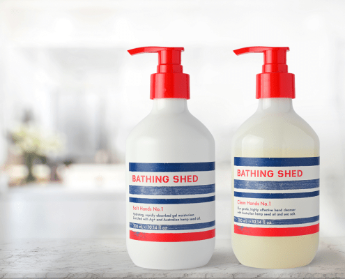 Bathing Shed products for hands