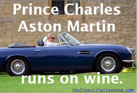 Prince Charles Aston Martin Runs on Wine