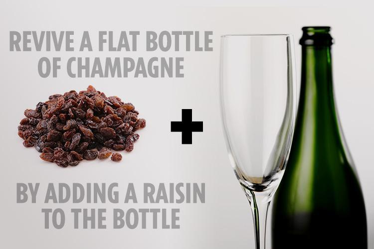 How to revive the bubbles in your flat Champagne