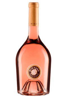 A bottle of Miraval Rose