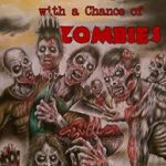 Cover image: Sunny with a Chance of Zombies. Various zombies at a barbecue, the sun high in the sky.