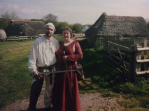 Dion and Clover, living the medieval life