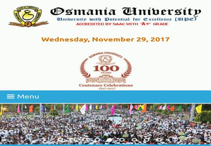 Osmania University OU PG Time Table 2017, Exams from December 12