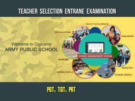 Army Public School Teacher Selection TGT, PGT, PRT Posts apply at awesindia.com