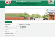 Haryana HTET Answer Key 2017 Level-1, 2 and 3 Released for Booklet Codes A, B, C, D