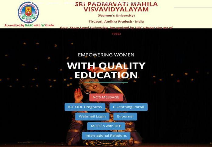Tirupati SPMVV DDE PG Admissions 2018 Opened, Apply at www.spmvv.ac.in