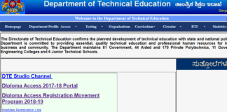 DTE Polytechnic Practical Exams Time Table released at dte.kar.nic.in