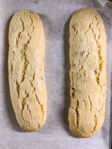 Biscotti 1st Bake Completed