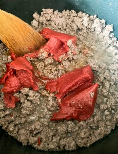 Ground Beef and Tomato Paste