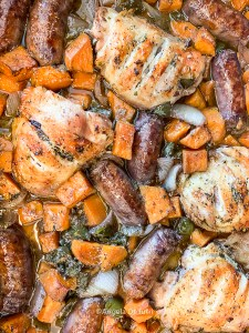Chicken, Sausage and Sweet Potatoes