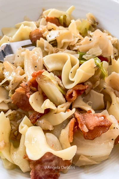 Haluski  (Fried Cabbage and Noodles)