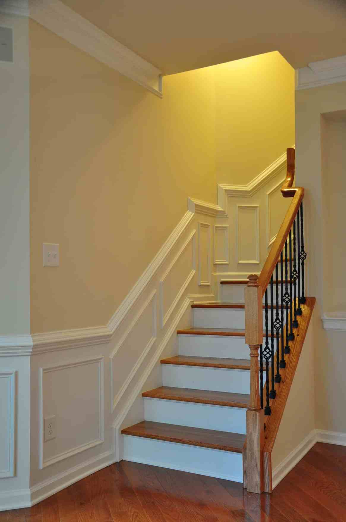 Carpenters install wainscoting in Richmond Va
