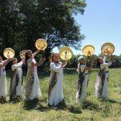 women bridging worlds drum circle