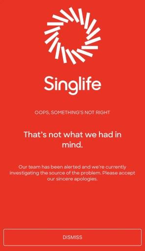 SingLife Error