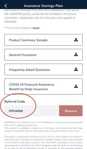 GIGANTIQ Referral Code FIPHARM