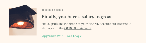 OCBC FRANK Account Upgrade to 360 Website
