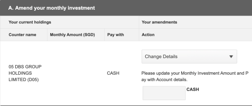 OCBC BCIP Amend Monthly Investment