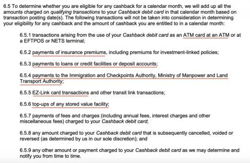 Standard Chartered JumpStart Cashback Not Eligible