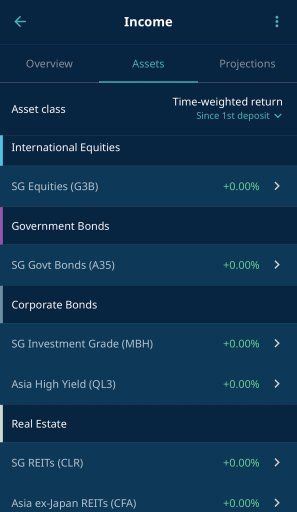 StashAway Income Portfolio Holdings App