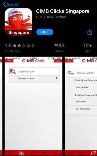 CIMB Clicks Mobile App